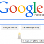 Google Condolences #PeshawarAttack with a Candle on its Homepage