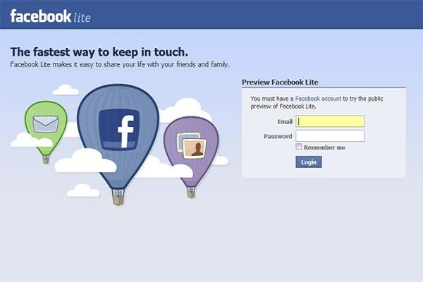 Chop the Fat with Facebook Lite For Android Only