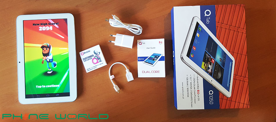QMobile QTab Q1050 Tablet Review - PhoneWorld