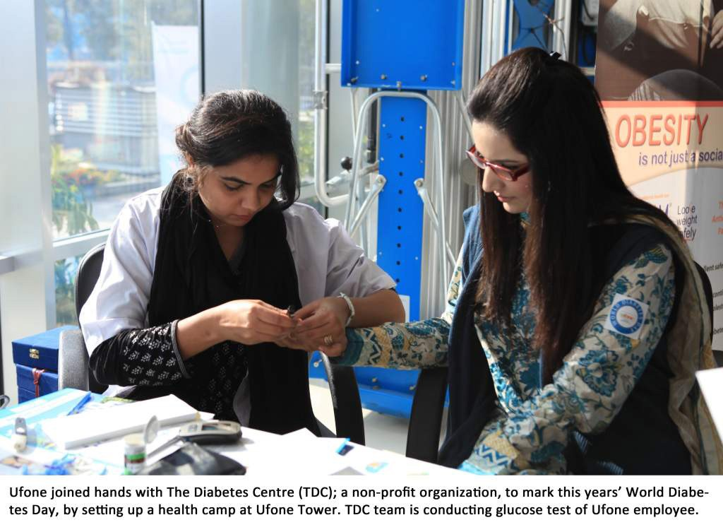 Ufone, TDC Collaborate to Mark World Diabetes' Day