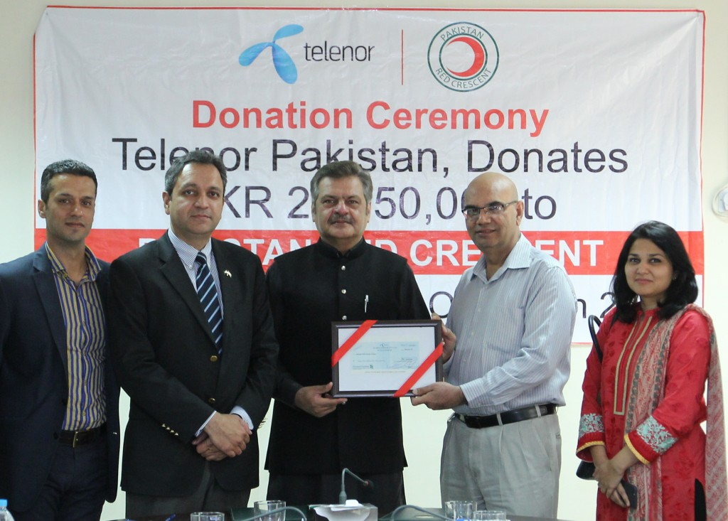 Telenor Pakistan Donates Rs. 29.05 Million to the Affectees of Earthquake