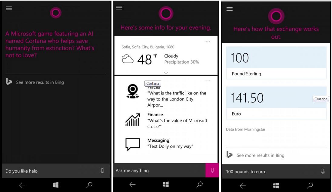 Microsoft Lumia 950 Cortana