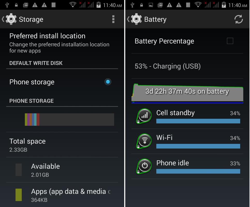 QMobile Noir X34 Battery +Memory