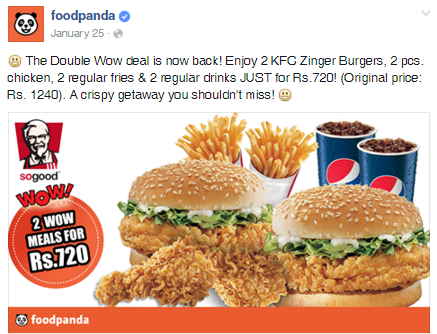 foodpanda.pk Brings for You the Best Deals Again