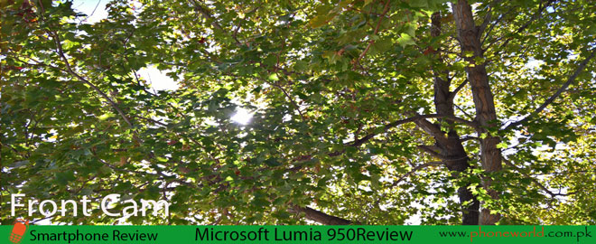 Microsoft Lumia 950 camera-Front