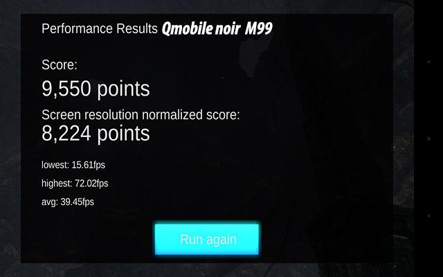 qmobile noir m99 GPU performance