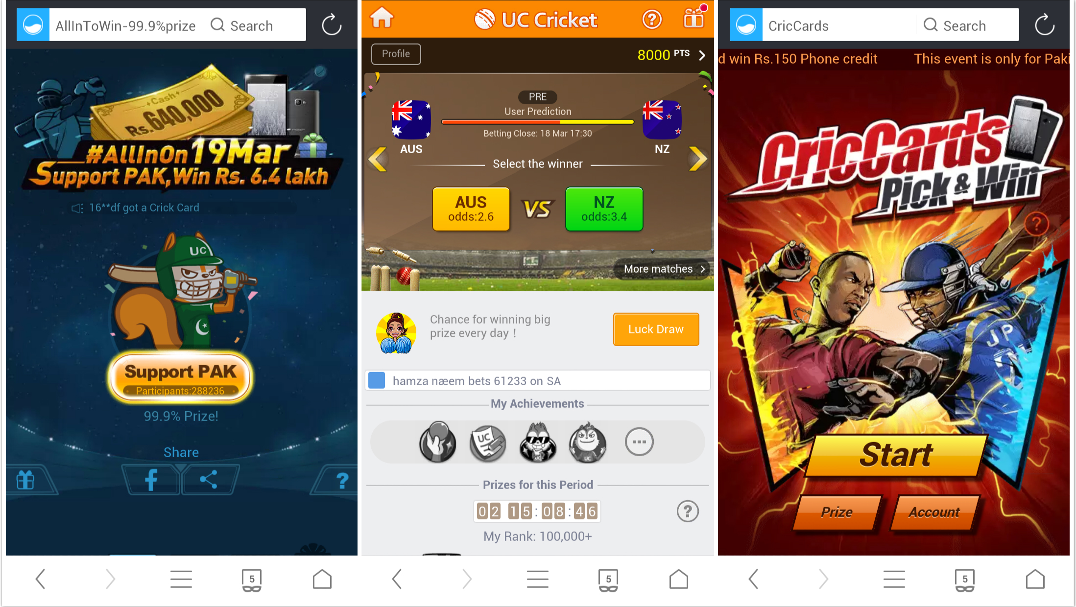 UC Browser launches 1st series of Cricket Themed Web Games for
