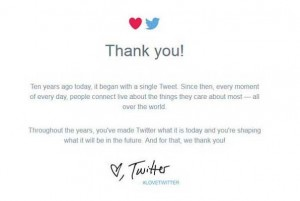 Twitter Thank You