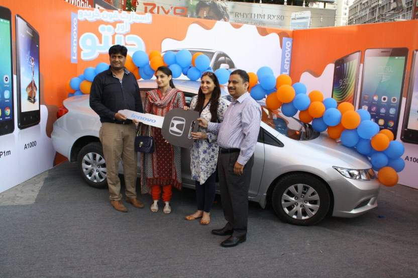 Lenovo announces lucky winner of grand prize '1800 cc car'